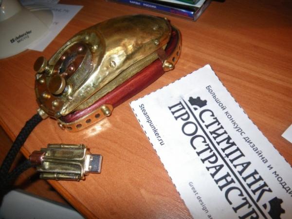 Мышка латунно-деревянная)) (Фото 27)