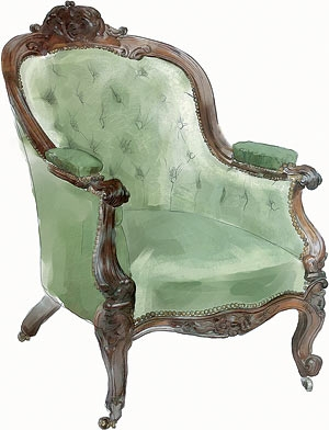 """Преимущественно английский стиль, или """"что могло бы украсить steampunk-интерьер?"""" Кресла. (Фото 5)"""