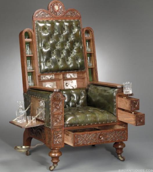 """Преимущественно английский стиль, или """"что могло бы украсить steampunk-интерьер?"""" Кресла. (Фото 27)"""