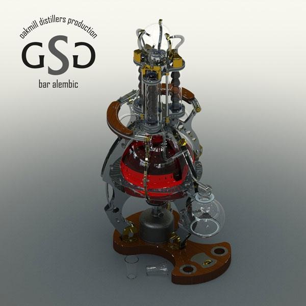 Стеклянный самогонный аппарат на газовой горелке