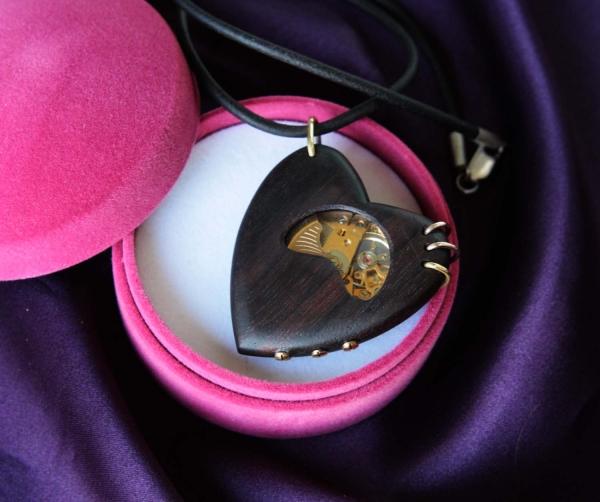 """стимпанк кулон """" Трепетное сердце"""" (Фото 3)"""
