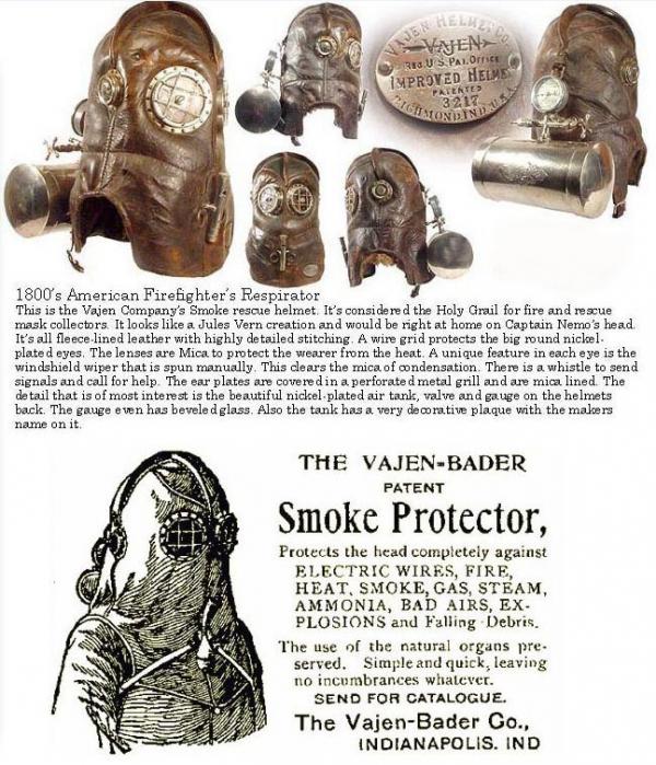 Старинная маска пожарника (Фото 2)