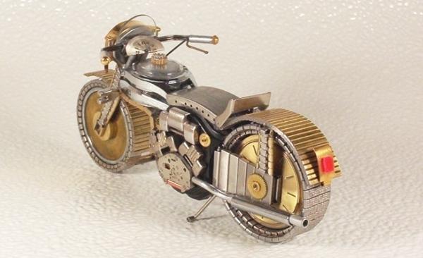 Мотоциклы из деталей часов 1 (Фото 5)