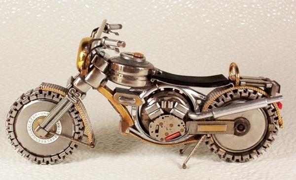 Мотоциклы из деталей часов 1 (Фото 7)