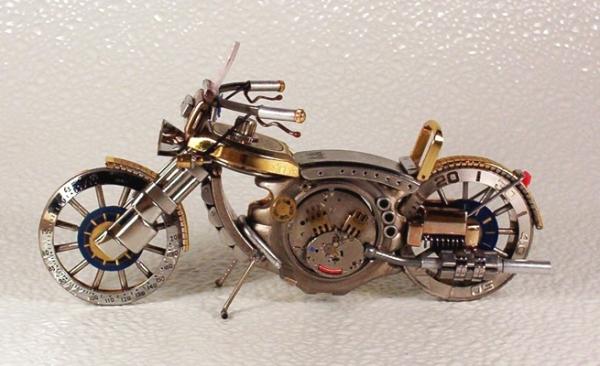 Мотоциклы из деталей часов 1 (Фото 9)