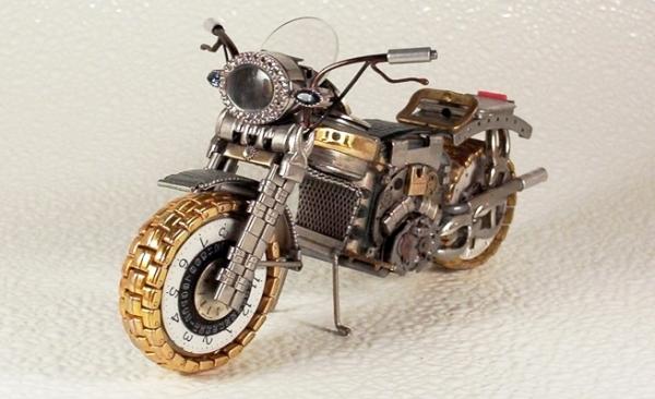 Мотоциклы из деталей часов 1 (Фото 10)
