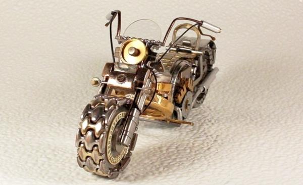 Мотоциклы из деталей часов 1 (Фото 3)