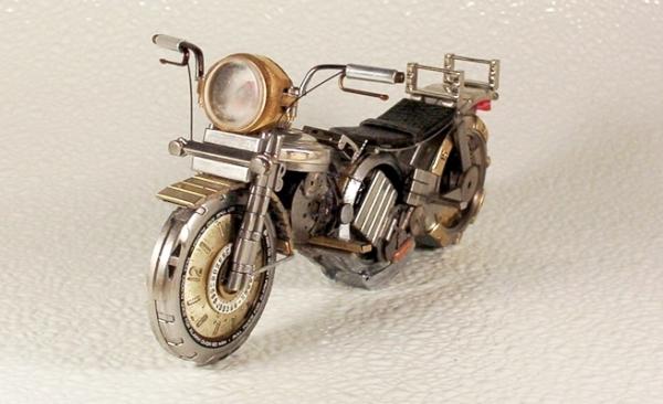 Мотоциклы из деталей часов 1 (Фото 6)
