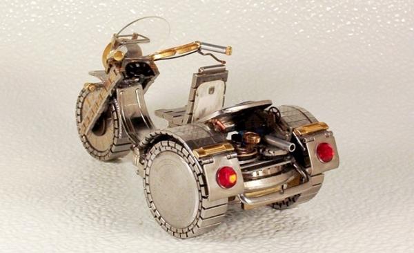 Мотоциклы из деталей часов 1 (Фото 8)