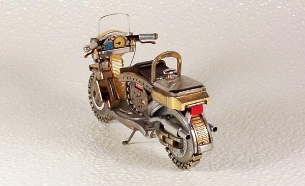 Мотоциклы из деталей часов 2 (Фото 8)