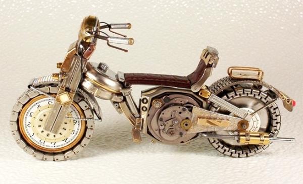 Мотоциклы из деталей часов 2