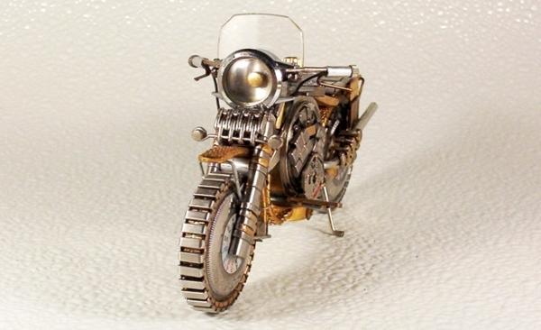 Мотоциклы из деталей часов 2 (Фото 6)