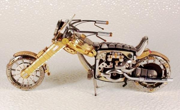 Мотоциклы из деталей часов 2 (Фото 7)
