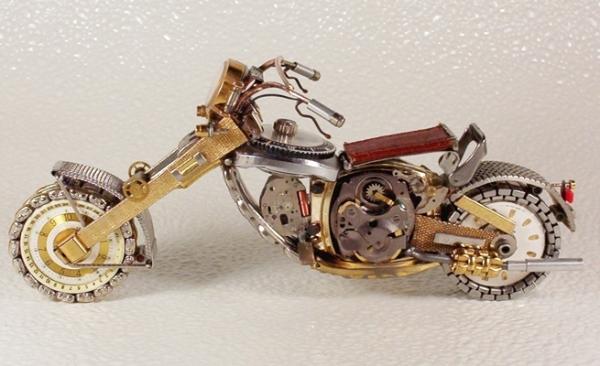 Мотоциклы из деталей часов 2 (Фото 9)
