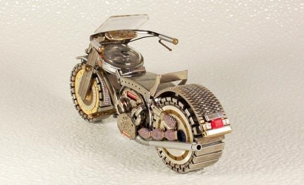 Мотоциклы из деталей часов 2 (Фото 5)