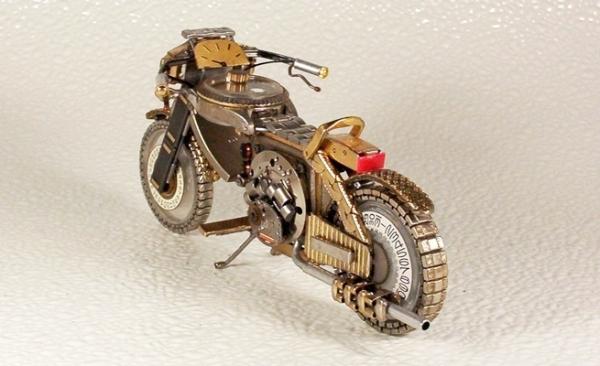 Мотоциклы из деталей часов 2 (Фото 2)