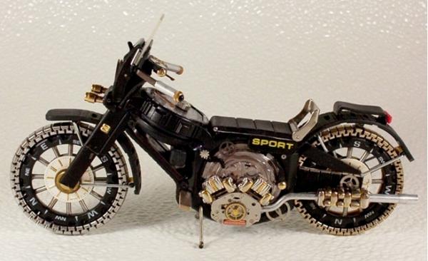 Мотоциклы из деталей часов 2 (Фото 4)
