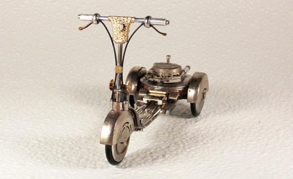 Мотоциклы из деталей часов 3 (Фото 5)