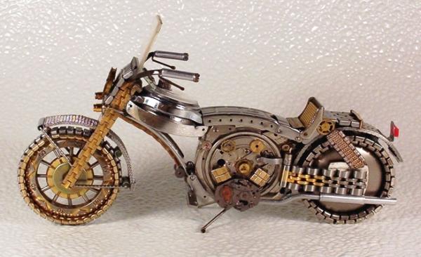 Мотоциклы из деталей часов 3 (Фото 8)