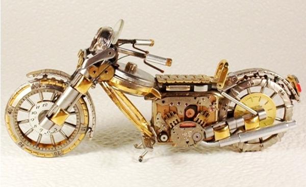 Мотоциклы из деталей часов 3 (Фото 6)