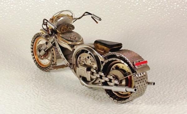 Мотоциклы из деталей часов 3 (Фото 3)