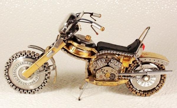 Мотоциклы из деталей часов 3 (Фото 9)