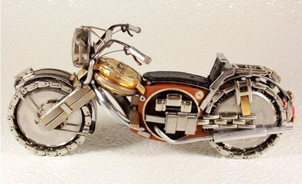 Мотоциклы из деталей часов 3 (Фото 4)
