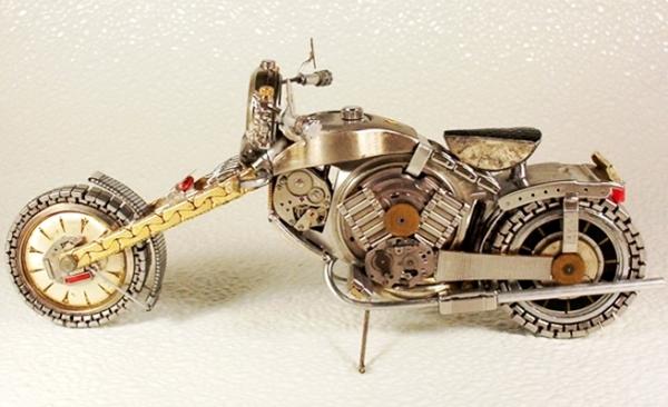 Мотоциклы из деталей часов 3 (Фото 7)