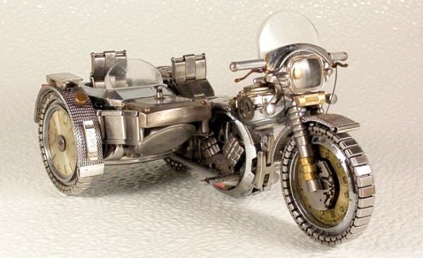 Мотоциклы из деталей часов 3 (Фото 2)