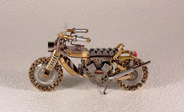 Мотоциклы из деталей часов 4 (Фото 2)