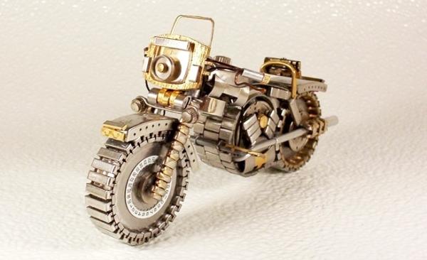 Мотоциклы из деталей часов 4 (Фото 10)