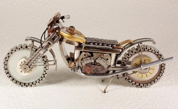 Мотоциклы из деталей часов 4 (Фото 7)