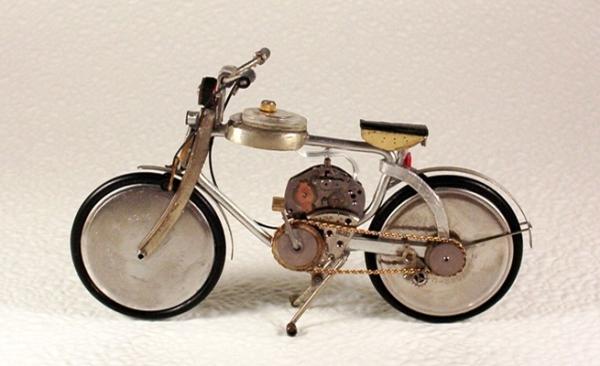 Мотоциклы из деталей часов 4 (Фото 5)