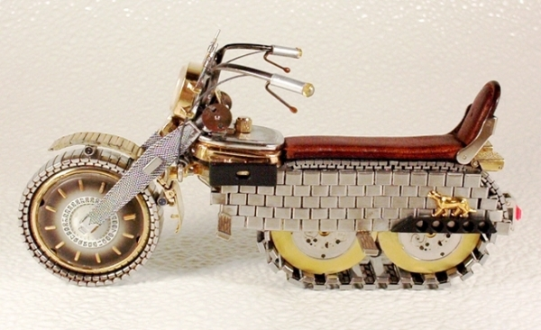 Мотоциклы из деталей часов 4 (Фото 6)