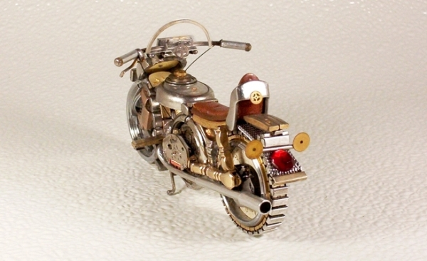 Мотоциклы из деталей часов 4 (Фото 8)