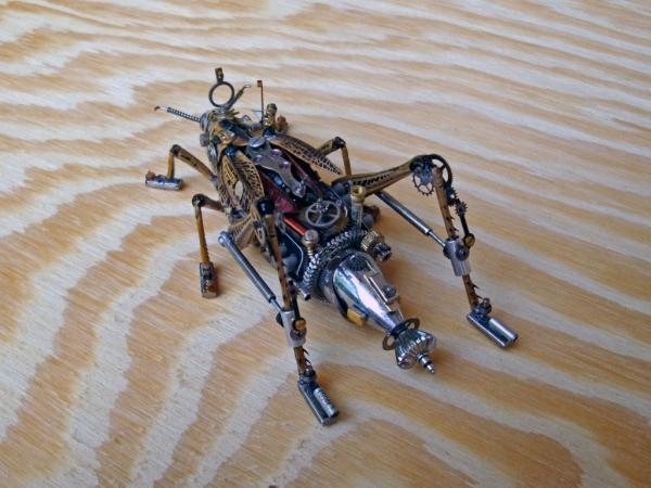 Мои насекомые Steampunk bugs. Переделка. (Фото 6)
