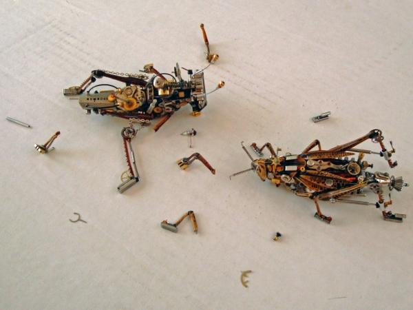 Мои насекомые Steampunk bugs. Они подрались. (Фото 3)