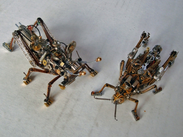 Мои насекомые Steampunk bugs. После ремонта.