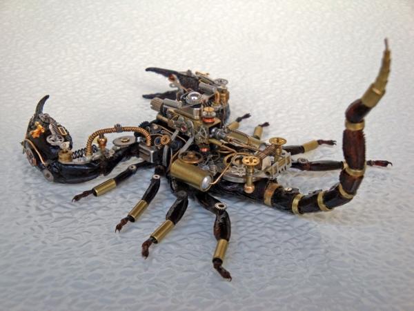 Мои насекомые Steampunk bugs. Скорпион. (Фото 12)