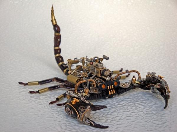 Мои насекомые Steampunk bugs. Скорпион. (Фото 11)