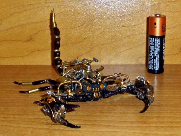 Мои насекомые Steampunk bugs. Скорпион. (Фото 15)