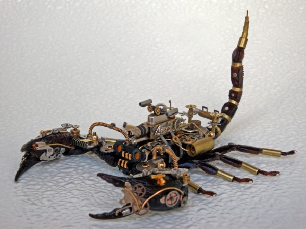 Мои насекомые Steampunk bugs. Скорпион. (Фото 13)