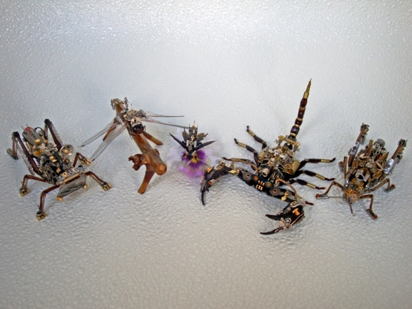 Мои насекомые Steampunk bugs. Скорпион. (Фото 17)