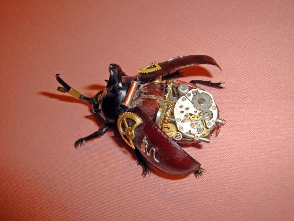 Мои насекомые Steampunk bugs. Жук-Носорог. (Фото 7)