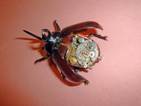 Мои насекомые Steampunk bugs. Жук-Носорог. (Фото 6)