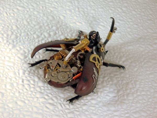 Мои насекомые Steampunk bugs. Жук-Носорог. (Фото 11)