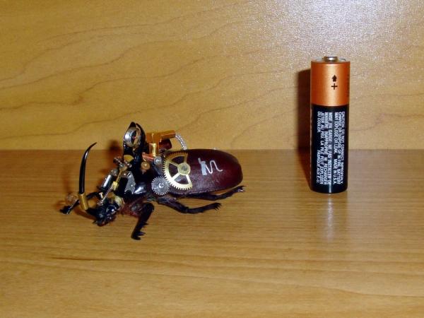 Мои насекомые Steampunk bugs. Жук-Носорог. (Фото 13)
