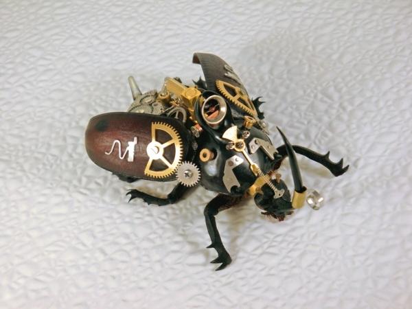 Мои насекомые Steampunk bugs. Жук-Носорог. (Фото 12)