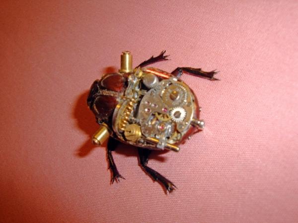 Мои насекомые Steampunk bugs. Жук-Носорог. (Фото 5)