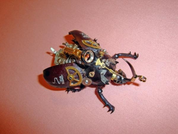 Мои насекомые Steampunk bugs. Жук-Носорог. (Фото 8)